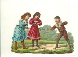 DECOUPIS ANCIEN / ENFANTS JOUANT à COLIN MAILLARD - HAUTEUR 8cm - Animaux