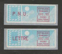 France, Distributeur, Type A, Carrier, 104, 105, Neuf **,  Avec Support, 75500 - 1985 Papier «Carrier»