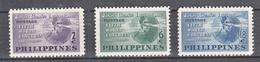 Filippine Philippines Philippinen Filipinas 1950 5th World Congress Of Jaycees II° Complete Set, Toned Gum - MNH** - Filippine