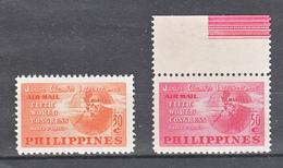 Filippine Philippines Philippinen Filipinas 1950 5th World Congress Of Jaycees I° Complete Set, Toned Gum - MLH* - Filippine