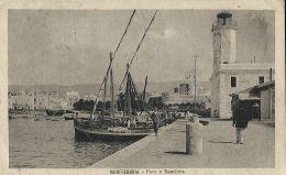 MANFREDONIA FARO E BANCHINA 1921 ANIMATA - Manfredonia
