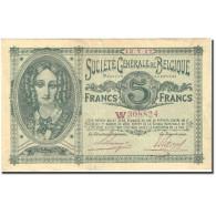 Billet, Belgique, 5 Francs, 1917, 1917-07-13, KM:88, TTB+ - [ 2] 1831-... : Royaume De Belgique