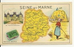 LES PASTILLES SALMON / LA SEINE ET MARNE - Géographie