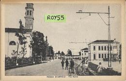 Veneto-venezia-fiesso D'artico Via Roma Veduta  Bella Animatissima Anni 40 (XIX) - Altre Città