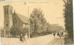 Knocke-Zoute 1930; L'Eglise Anglaise - Voyagé. (Thill - Bruxelles) - Knokke