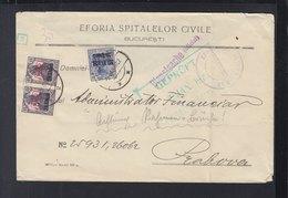 Rumänien Romania Deutsche Besetzung Dienstsache Eforia Spitalelor  1918 - 1. Weltkrieg (Briefe)