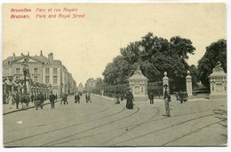 CPA - Carte Postale - Belgique - Bruxelles - Parc Et Rue Royale (SV5943) - Personnages Célèbres