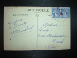 CP BROUSSY LE GRAND Le Monument Aux Morts TP SEMEUSE 10c Paire OBL. Tiretée 24-11 36 BANNES MARNE (51) - Marcophilie (Lettres)