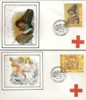 """BELG.1993  2489 & 2490 FDC's ( Lokeren ): """"  Croix Rouge Belge  - Het Belgische Rode Kruis """" - 1991-00"""
