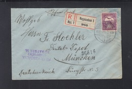 Hungary Registered Cover Nagyszeben Sibiu Romania 1916 To Germany - Hungary