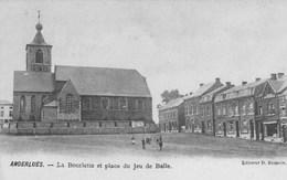 Anderlues.  La Bourlette&Place Du Jeu De Balle.  ( L'Eglise N'existe Plus)---scan-- - Anderlues