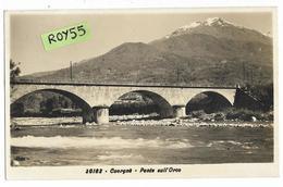 Val D'aosta-aosta-cuorgne Veduta Ponte Sull'orco Anni 30 (v.retro) - Altre Città