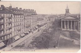 CPA - 280. LYON  Place Et église St Potbin - Lyon 1