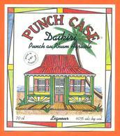 étiquette De Liqueur Punch Case Au Rhum Agricole à La Guadeloupe - 70cl - Rhum