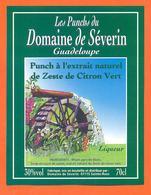 étiquette De Liqueur De Punch Au Zeste De Citron Vert Severin à Sainte Rose Guadeloupe - 70cl - Rhum