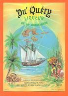 étiquette De Liqueur De La Guadeloupe Du'quéry Sotrarhum à Petit Bourg - 70cl - Bateau - Rhum