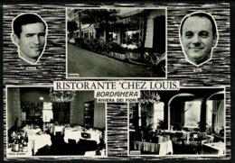 Ref 1231 - Real Photo Postcard - Benito & Tino At Chez Louis Ristorante - Bordighera Italy - Other Cities