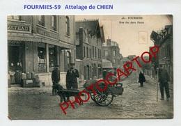 Attelage De CHIEN-FOURMIES-Commerce-Cafe WATEAU-Periode Guerre 14-18-1WK-France-59-FELDPOST - Fourmies