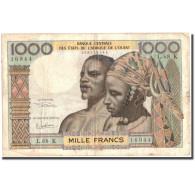 Billet, West African States, 1000 Francs, Undated (1960), KM:703Kg, TB+ - États D'Afrique De L'Ouest