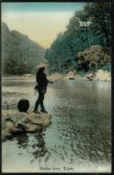 Ref 1231 - Early Japan Postcard - Fishing On Hodzu River Kyoto - Kyoto