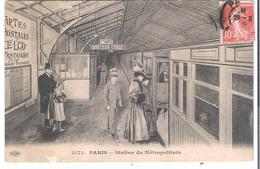 CPA PARIS Station Du Métropolitain    édit ELD  N°4171 (publicité Pour Les CP E LD ) Petit Défaut - Métro Parisien, Gares