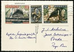 Ref 1231 - 1958 Real Photo Postcard - Monaco France - Triple Stamp - 30f Rate To Breda - Harbor