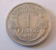 France - Monnaie 1 Franc Morlon Aluminium 1945 C - France
