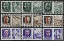 Italia Italy 1944 RSI Propaganda Di Guerra Fascio 10val Sa N.PG25-PG26,PG28-PG31,PG33-PG34,PG36 Nuovi MH * - 4. 1944-45 Repubblica Sociale