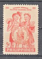 Filippine Philippines Philippinen Filipinas 1952 Philippine Educational System 50th Anniversary Set, Toned Gum - MNH** - Filippine