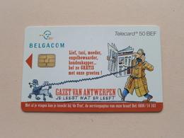 GAZET VAN ANTWERPEN - 2000 Belgacom / Telecard 50 Bef ! - Belgique