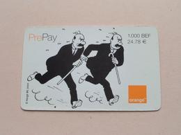 PREPAY ( Hergé ML 2000 ) ORANGE 2001 / Telecard 1000 Bef - 24,78 Euro ! - [2] Prepaid & Refill Cards