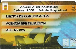 TARJETA COMITE OLIMPICOMESPAÑOL SIDNEY 2000  RARE - Unclassified