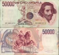 BANCONOTA DA 50.000 LIRE 25/01/1990 BERNINI I° TIPO - 50000 Lire