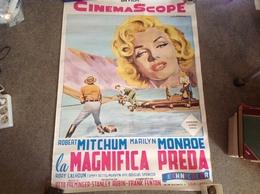 Marilyn Monroe, Affiche Film River Of No Return, La Magnifica Preda Par Spagnoli 100x70 Cm - Posters