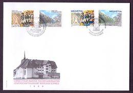 Schweiz Suisse 1999:Général Suvorov (1730-1800) Traversée Alpes Zu 983-4 Mi 1699-1700 Yv 1627-8  Combo-FDC (Zu CHF 6.50) - Emissions Communes