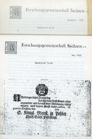 ArGe Sachsen Rundbriefe Nr. 44 + 45 - Jahrgang 1993 - Sachsen
