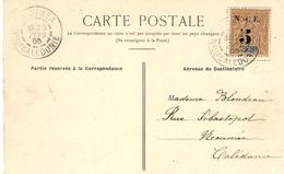 1905- C P A De KOUAOUA  ( Construction D'un Bâtiment )  Affr. N° 65 SEUL - Neukaledonien
