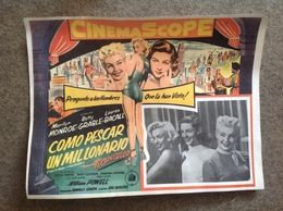 Marilyn Monroe, Affiche Vitrine 41,7 X 32, Comment épouser Un Millionnaire (italien) - Posters