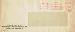 Roodfrankering EMA Nijmegen, WILLEM SMIT & Co's TRANSFORMATORENFABRIEK N.V. 23/2/1949 - Marcofilie - EMA (Print Machine)