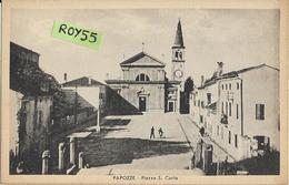 Veneto-rovigo-papozze Piazza S.carlo Veduta Anni 40 (XIX) - Altre Città