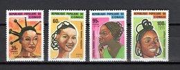 CONGO N° 424 à 427  NEUFS SANS CHARNIERE   COTE 4.50€   COIFFURES  VOIR DESCRIPTION - Neufs