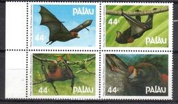 PALAU Faune Chauve-souris N° 154 à 157 Neufs** Cote 7€ - Reptiles & Batraciens