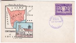 M377 Panama FDC 1955 Premier Jour Cocle Province, Victor De La Guardia és Ayala és Miguel Chiari - Panama