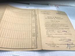 Carnet De Moniteur De Colonie De Vacances Copie De Diplôme Académie De Marseille Ministère De L'éducation Nationale - Diplômes & Bulletins Scolaires