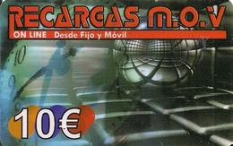TARJETA RECARGA M.O.V 10E VENTA EN CANARIAS 11,60 E - Unclassified