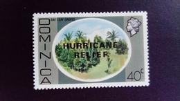 Dominique Dominica 1979 Paysage Palmier Landscape Palm Tree Surchargé Overprint HURRICANE RELIEF Yvert 635 ** MNH - Dominica (1978-...)
