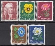SCHWEIZ  663-667, Postfrisch **, Pro Juventute: Wiesen- Und Gartenblumen 1958 - Pro Juventute