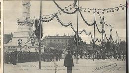 BORDEAUX - Fête Fédérale - M. Loubet Passe Au Milieu Des Drapeaux CPA 1905 - Manifestations