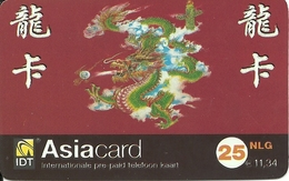 Netherlands: Prepaid IDT - Asia Card, Small Serial Number - Niederlande