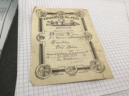 Distribution De Prix Montrouge Garçon Classe Prix De Classement Mention Très Bien 1937 Le Directeur - Diplômes & Bulletins Scolaires